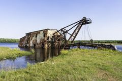 Quincy Dredge Number Two Stock Images