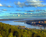 Quincy Hill view of Michigan Tech University Stock Image