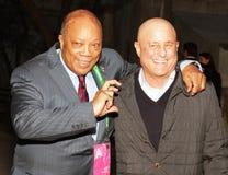 Quincy Jones e Ron Perelman Fotografia de Stock Royalty Free