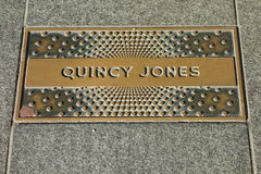 Quincy Jones Plaque Stock Photo