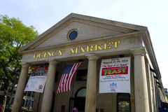 Quincy Market Boston. Entrance to the Quincy Market in Boston Stock Photo