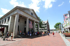Quincy Market Boston MA Stock Photos