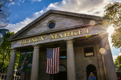 Quincy Market in Boston Mass Royalty Free Stock Photography