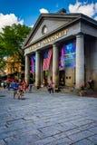 Quincy Market, in Boston, Massachusetts. Royalty Free Stock Photos