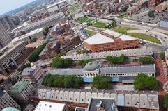 Quincy Market, Boston, USA. Aerial view of Quincy Market, Boston, USA Stock Photo