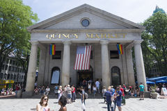 Quincy Market i Boston Arkivfoto