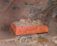Quincy Mine Ore Cart, Keweenaw National Historical Park, MI Stock Photos