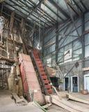 Quincy Mine Skip Road Keweenaw nationellt historiskt parkerar, MI Arkivbilder