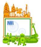 quindicesimo August Independence del fondo tricolore dell'India Immagini Stock