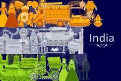 quindicesimo August Independence del fondo tricolore dell'India Fotografia Stock