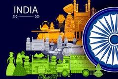 quindicesimo August Independence del fondo tricolore dell'India Fotografie Stock
