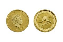 Quindici dollari australiani (oro) Fotografie Stock