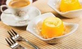Quindim, вкусный десерт сделанный с яичками Стоковые Фото