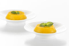 Quindim - Brazilian Coconut Flan Stock Photo
