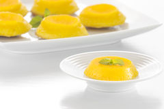 Quindim - Brazilian Coconut Flan Royalty Free Stock Photos