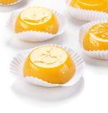 Quindim, smakelijk dessert dat met eieren wordt gemaakt Stock Afbeeldingen