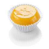 Quindim, smakelijk die dessert met eieren wordt gemaakt Stock Afbeelding