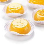 Quindim, sobremesa saboroso feita com ovos Imagens de Stock