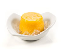 Quindim, tasty dessert made with eggs. Dessert made with egg and coconut Royalty Free Stock Images