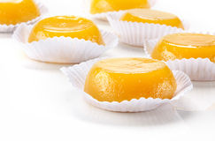 Quindim, tasty dessert made with eggs Royalty Free Stock Photography