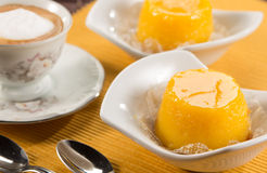 Quindim, tasty dessert made with eggs Stock Image