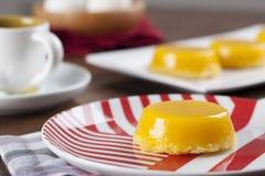 Quindim, un dessert brasiliano Fotografia Stock