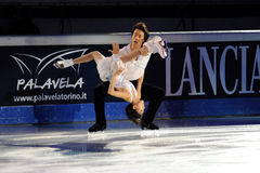 Quing Pang & Jian Tong at 2011 Golden Skate Award Royalty Free Stock Photo