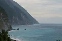 Quingshui cliffs, Taiwan`s eastern coast stock image