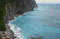 Quingshui klippor, östlig kust för Taiwan ` s Arkivfoto