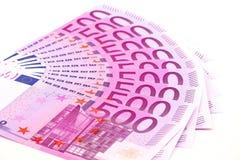 Quinientos billetes de banco euro Fotografía de archivo