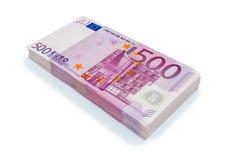 Quinientos billetes de banco euro Imagen de archivo libre de regalías