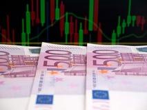 Quinientos billetes de banco euro Foto de archivo libre de regalías