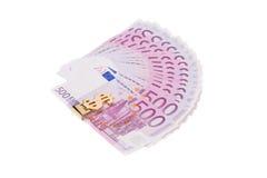 Quinientos notas euro Foto de archivo libre de regalías