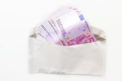 Quinientos notas euro Fotos de archivo libres de regalías