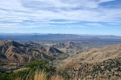 Quinlan Mountains and Sonoran Desert. The Quinlan Mountains and Sonoran Desert as viewed from Kitt Peak National Observatory.  Kitt Peak is an astronomical Stock Photos