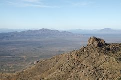 Quinlan Mountains and Sonoran Desert. The Quinlan Mountains and Sonoran Desert as viewed from Kitt Peak National Observatory. Kitt Peak is an astronomical stock photo