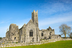 Quinn abbey ruins Stock Image