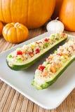 Quinoa γεμισμένο σαλάτα Zuchini ημέρας των ευχαριστιών στοκ φωτογραφίες
