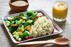 Quinoa με τα λαχανικά Στοκ Εικόνες