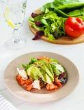 Quinoa σαλάτα με τα λαχανικά και το τυρί στοκ εικόνα