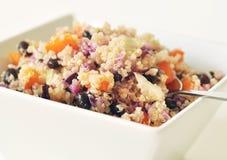 Quinoa. Vegetarian quinoa salad in a white bowl Royalty Free Stock Photography