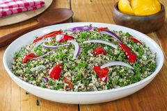 Quinoa and Amaranth in a Salad stock photo