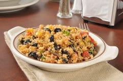 Quinoa and black bean salad Stock Image
