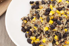 Quinoa and Black Beans Stock Images