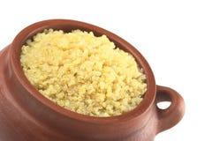 Quinoa branco cozinhado fotografia de stock royalty free