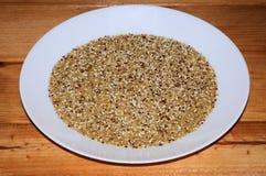 Quinoa and bulgar wheat. Royalty Free Stock Photos