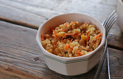 Quinoa and Carrot Salad Royalty Free Stock Photo