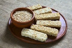 Quinoa Cereal Bars Royalty Free Stock Photography