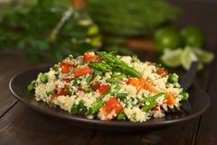 Quinoa con las verduras Imagen de archivo libre de regalías