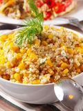 Quinoa with corn salad Stock Photography